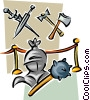 Vector Clip Art image  of a historic weapons