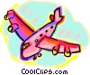 plane Vector Clipart illustration
