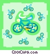 Vector Clipart illustration  of a bikes