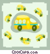 Vector Clipart picture  of a buses