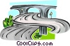 Vector Clip Art image  of a Highways and roads