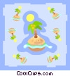 palm tree islands Vector Clip Art picture