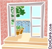 House front entrance Vector Clipart illustration