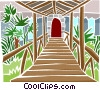 Vector Clipart illustration  of a bridge to doorway
