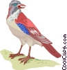 Vector Clip Art graphic  of a bird