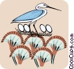 Vector Clip Art graphic  of a heron