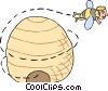 Vector Clipart picture  of a busy as a bee
