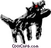 Vector Clipart illustration  of a wolf