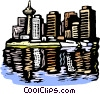 city scape Vector Clipart graphic