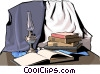Vector Clipart graphic  of a study books