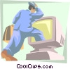 business entering world of technology Vector Clip Art picture