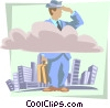 Vector Clip Art graphic  of a business clear vision