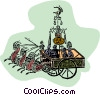 Vector Clipart picture  of a roman chariots