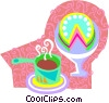 food and dining/coffee and cake Vector Clip Art graphic
