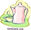 coffee time Vector Clipart graphic