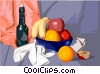 Vector Clip Art picture  of a Food and dining/wine and fruit