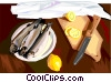 Vector Clipart image  of a Food and dining/fish dinner
