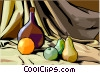 food and dining/wine and fruit Vector Clipart picture