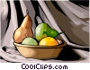 Vector Clip Art image  of a Food and dining/basket of