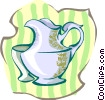 Vector Clip Art image  of a pot
