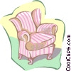 Vector Clip Art picture  of an arm chair