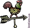 Vector Clipart picture  of a Wind direction rooster