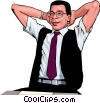 business man relaxing Vector Clipart graphic