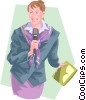 Vector Clip Art graphic  of a talk show host