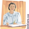 business receptionist Vector Clip Art picture
