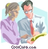 Vector Clipart illustration  of a business discussion