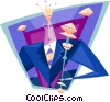 business king Vector Clipart picture