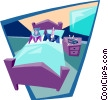 business couple in bed Vector Clipart graphic