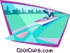 business up creek without paddle Vector Clip Art picture