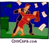 Vector Clipart image  of a business dancing