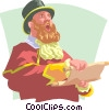 town crier Vector Clipart picture