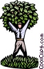 Vector Clip Art graphic  of a business man tree