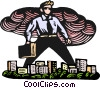 Vector Clipart graphic  of a business man giant