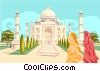Vector Clipart picture  of a Taj Mahal