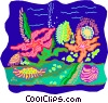 Vector Clipart image  of a sea life