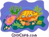 Vector Clipart graphic  of a sea life