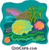 sea life Vector Clipart graphic