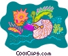 Vector Clipart picture  of a sea life