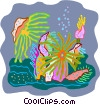 Vector Clipart illustration  of a sea life