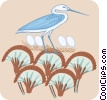 Vector Clip Art image  of a birds