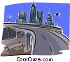 Vector Clip Art image  of a city scape