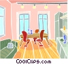 dining room Vector Clipart picture