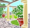 Vector Clipart graphic  of a Outdoor patio