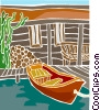 cottage scene Vector Clipart picture
