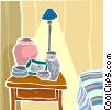 Vector Clipart graphic  of a bedroom interior