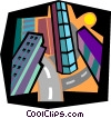 city scape Vector Clipart image